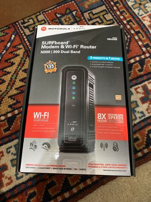 Motorola Modem and WiFi Router for Sale in Aurora, CO