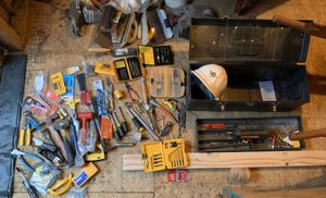 Tools and tool box with HARD ROCK HARD HAT for Sale in Absecon, NJ