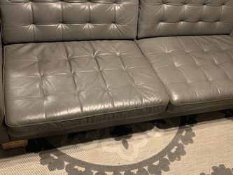 IKEA 3 Seat Couch Sofa Leather Gray for Sale in Aurora,  CO