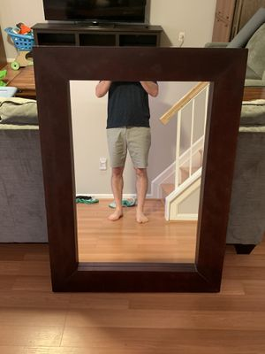 Large mirror with wood frame. for Sale in West Springfield, VA