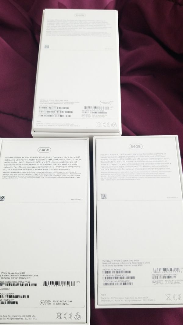 3x iphone boxes only