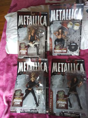 Metallica Harvester Of Sorrow Complete Set Of 4 Mcfarlane Toys 2001 Band Figures for Sale in Lakewood, CO