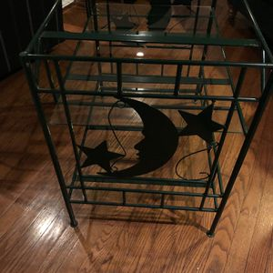 Glass And Metal TV Stand for Sale in Newtown Square, PA