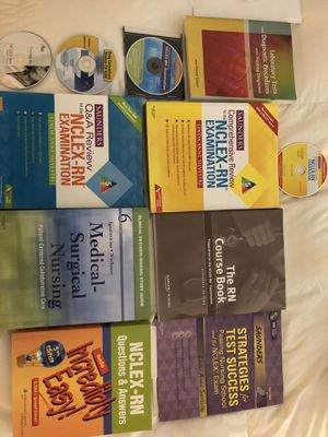 NCLEX nursing review books and CDs for Sale in San Francisco, CA