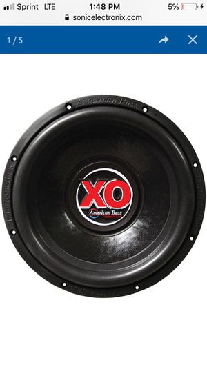 """2 12"""" American bass XO Subwoofers for Sale in Cleveland, OH"""