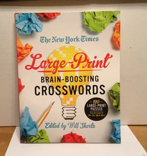 The New York Times Large Print Cross World Puzzle Book for Sale in Plano, TX