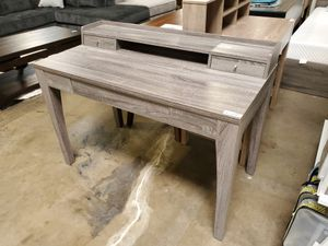Office Desk, Distressed Grey for Sale in Santa Fe Springs, CA