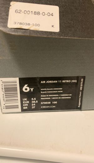 6y Jordan Retro 11s for Sale in Denver, CO