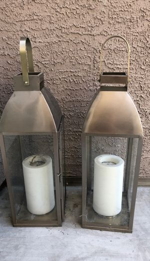 Outdoor candle holders -stainless steel for Sale in Henderson, NV
