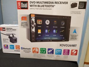"NEW STEREO DVD MULTIMEDIA RECEIVER,MONITOR TOUCH SCREEN 6.2"",BLUETOOTH,MICROPHONE,AUX,USB,NAVIGATION APP CON SU CAMARA TRASERA APRUEBA DE AGUA for Sale in Kissimmee, FL"