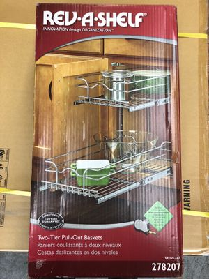 New Rev A Shelf 2 tier pull out baskets for kitchen cabinets for Sale in Burbank, CA