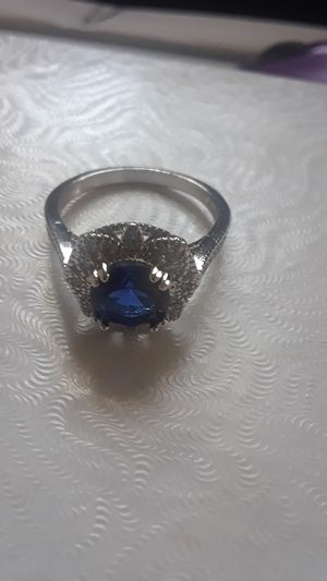 Sterling silver sapphire ring for Sale in Tampa, FL