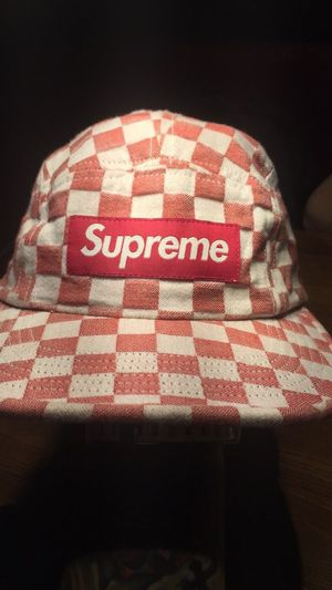 Authentic Supreme 5 panel Hat (Red&White Checkered) for Sale in Fairfax, VA