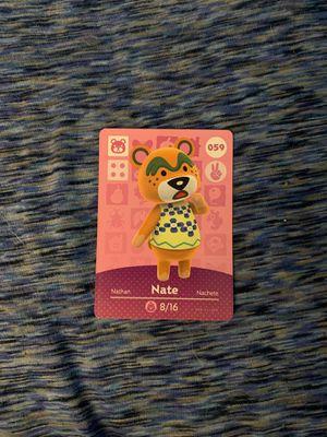 Animal Crossing Amiibo Card Nate for Sale in Morgantown, WV
