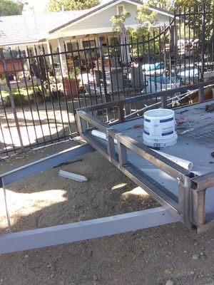Motorcycle trailer/ utility trailer will be painting trailer black for Sale in Santa Clarita, CA