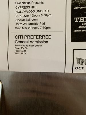 2 cypress hill/ Hollywood undead tickets for Sale in Kennewick, WA