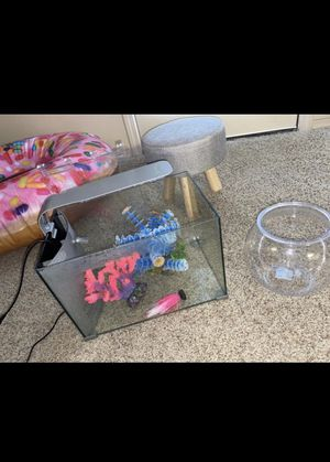Fish Tank + Bowl + items for Sale in Oklahoma City, OK