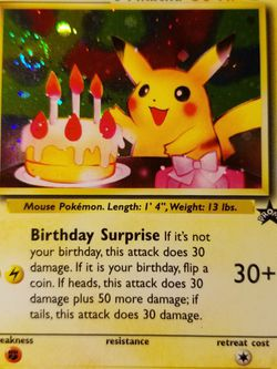 Happy Birthday Pikachu Holo Promo for Sale in Pinellas Park,  FL