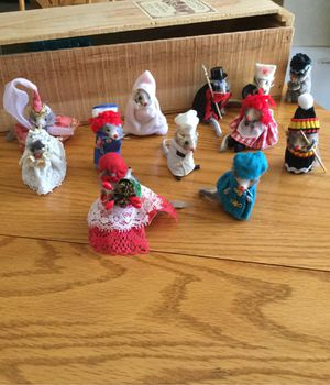 Miniature Mice Costumed Toys -12 mice in all. In great condition. for Sale in El Dorado Hills, CA