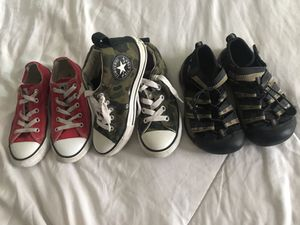 Kids converse and keen shoes size 13 for Sale in Snohomish, WA