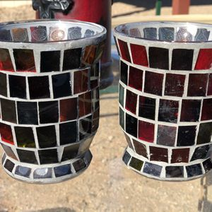 Red Mosaic Candle Holders for Sale in Phoenix, AZ
