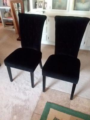 2 black velvet chairs for Sale in Payson, AZ