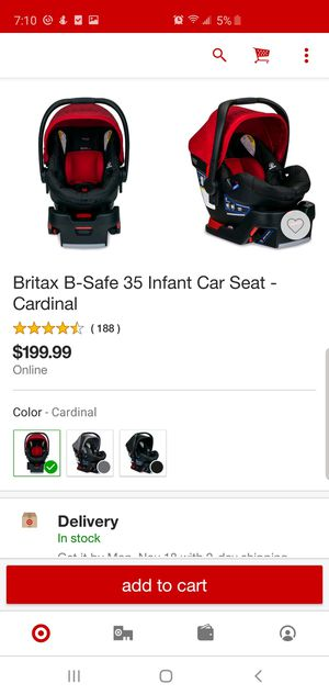 Britax B-Safe 35 Infant Car Seat and Base for Sale in Whittier, CA