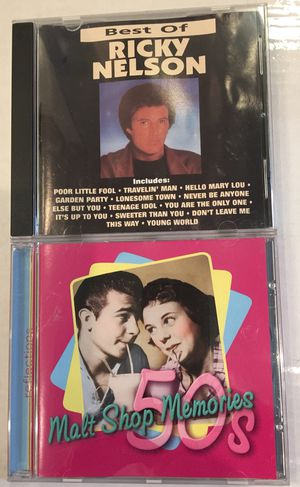 Oldies Music, Ricky Nelson and Malt Shop Memories, CDs for Sale in Virginia Beach, VA