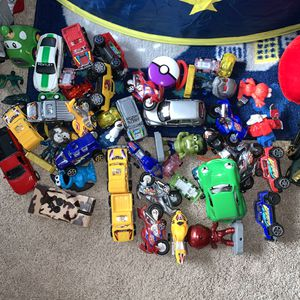 Cars, stuffed animals random toys for Sale in Puyallup, WA
