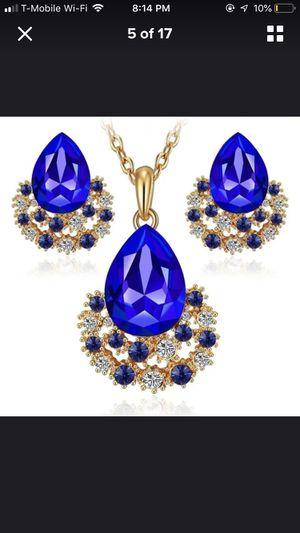 Blue Necklace set for Sale in Falls Church, VA