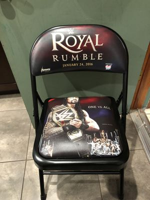 Bundle deal ringside wwe chairs royal rumble and wrestlemania 33 & 32 for Sale in Miami, FL