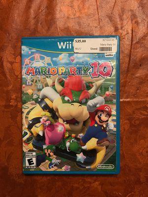 Mario party 10 Wii U for Sale in Maricopa, AZ