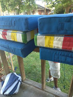 6 patio chair cushion free for Sale in Evansville, IN