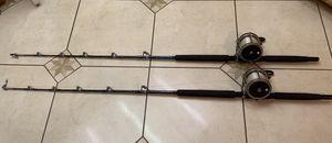 Pair of Penn senator 9/0 & 50-130lb trolling fishing rods for Sale in Riverside, CA