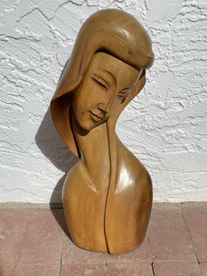 Hand Carved Bust of a Beautiful Woman for Sale in Tempe, AZ