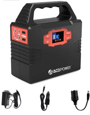ACOPOWER 150Wh/40,800mAh Portable Generator Power Supply Solar Energy Storage Lithium ion Battery with AC Power Inverters 110V/60Hz, USB Ports 5V/3A, for Sale in Los Angeles, CA