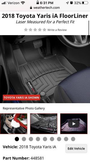 Toyota Yaris/Scion iA WeatherTech Floor-liners for Sale in Puyallup, WA