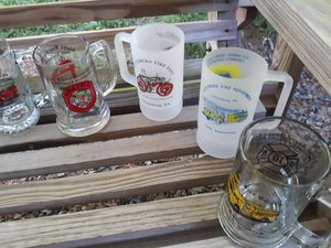 Fire Department glass collection 11 mugs from all local fire departments for Sale in Aspers, PA
