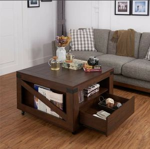 Modern Square Coffee Table in Walnut Finish for Sale in Diamond Bar, CA