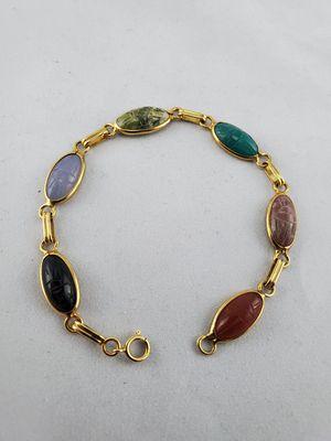 """14k gold 7"""" inch bracelet multi stone for Sale in Arvada, CO"""