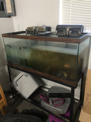 Fish tank with stand and filters for Sale in Glen Burnie, MD