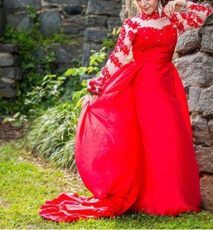 Beautiful red party dress or prom gown for Sale in Lawrenceville, GA