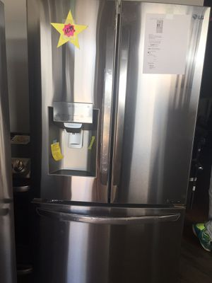 Refrigerator French doors stainless steel LG new warranty for Sale in Oakland Park, FL