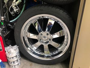 Rims and tires and spacers for Sale in Lynnwood, WA