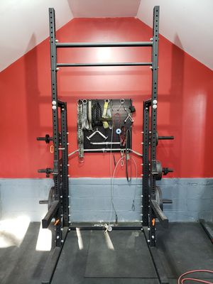 Rogue S-3 Squat Stand with HR-2 Half Rack Kit and Accessories for Sale in Huntington, NY
