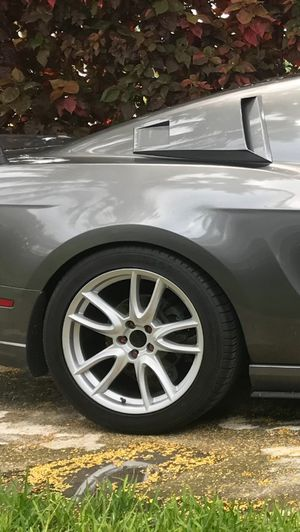 2-19x10 2014 Mustang performance track pack rims for sale $350 for Sale in Miami, FL