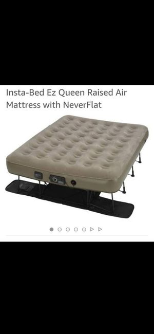 Insta-Bed Ez Queen Raised Air Mattress with NeverFlat for Sale in Pasadena, CA