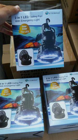 2 in 1 Fan with LED light for Sale in Bassett, CA