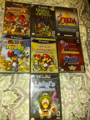 GameCube games $35 each papermario,mariotennis,Luigi's Mansion,megamanx,zeldaocarina,zelda4swords&zeldacollectors$35 each for Sale in Escondido, CA
