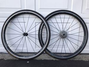 Like new Vision Team 30 Comp 700c wheelset Shimano 105 11 speed cassette Gatorskin tires for Sale in Sunnyvale, CA